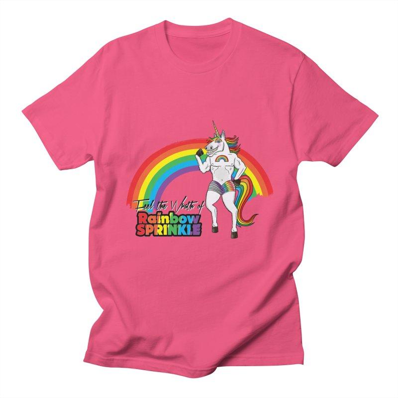 Feel The Wrath Of Rainbow Sprinkle Men's Regular T-Shirt by John D-C