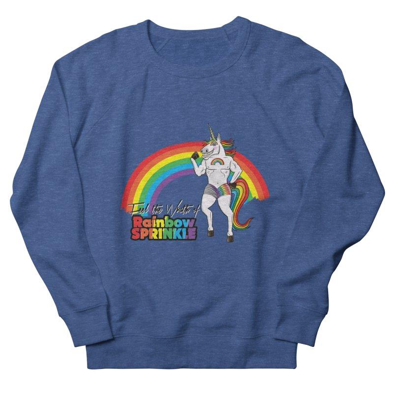 Feel The Wrath Of Rainbow Sprinkle Men's French Terry Sweatshirt by John D-C