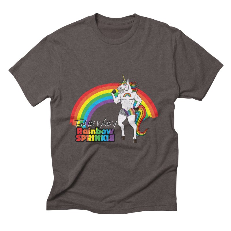 Feel The Wrath Of Rainbow Sprinkle Men's Triblend T-Shirt by John D-C