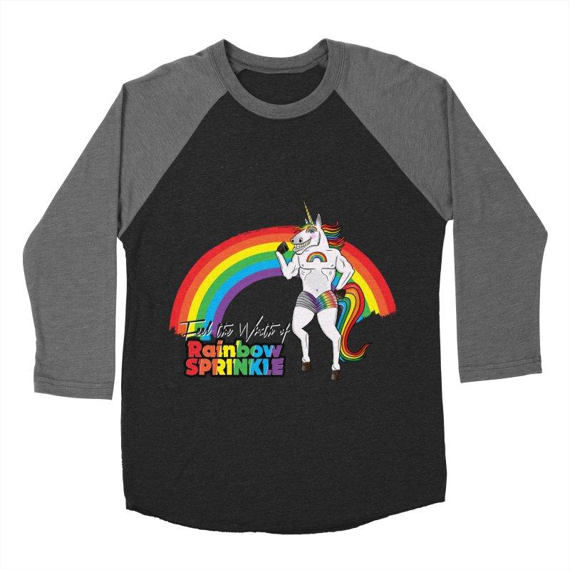 Feel The Wrath Of Rainbow Sprinkle Women's Baseball Triblend Longsleeve T-Shirt by John D-C