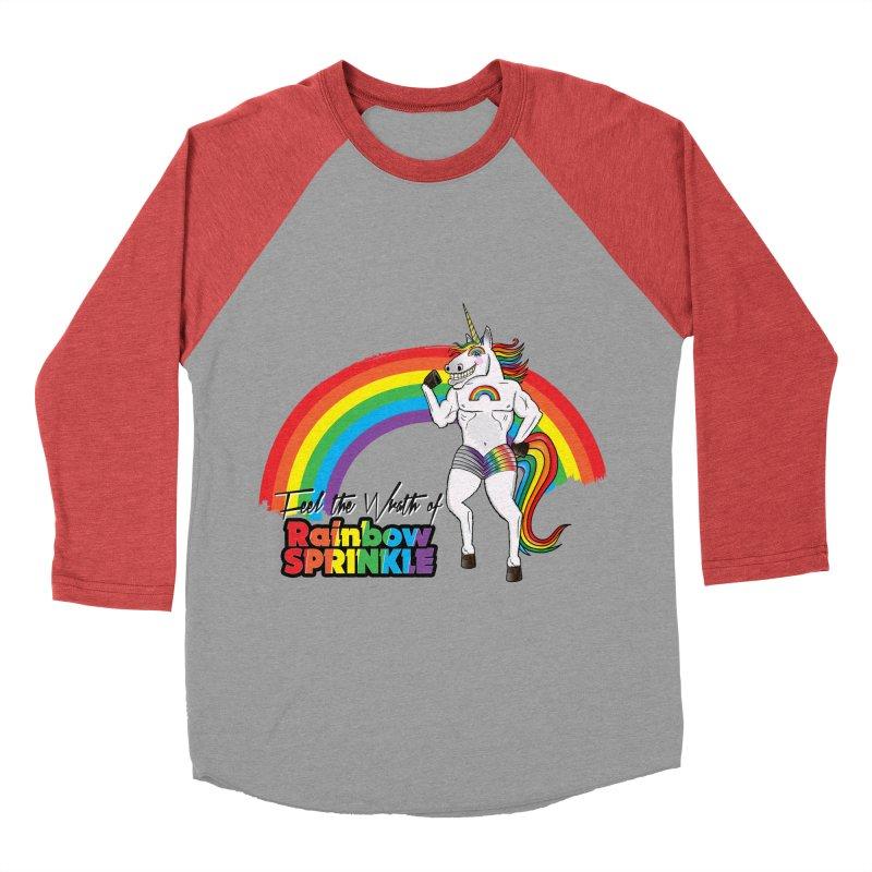 Feel The Wrath Of Rainbow Sprinkle Men's Baseball Triblend Longsleeve T-Shirt by John D-C