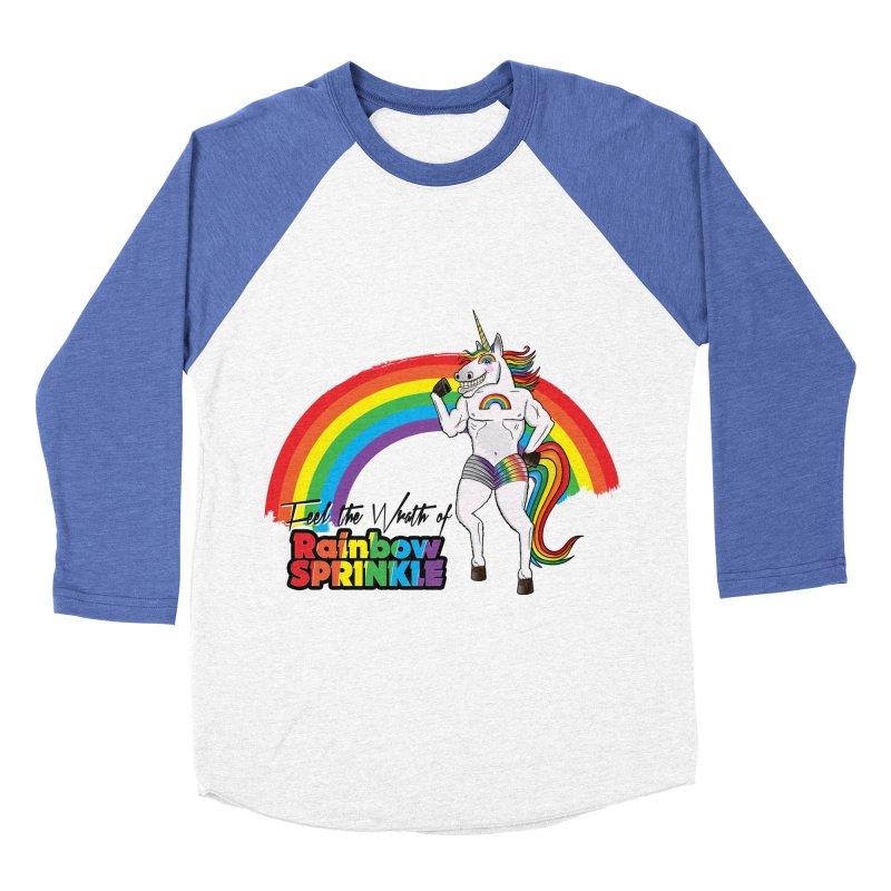 Feel The Wrath Of Rainbow Sprinkle Men's Baseball Triblend Longsleeve T-Shirt by John D-C's Artist Shop