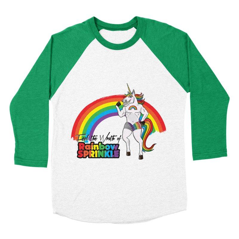 Feel The Wrath Of Rainbow Sprinkle Men's Baseball Triblend T-Shirt by John D-C's Artist Shop