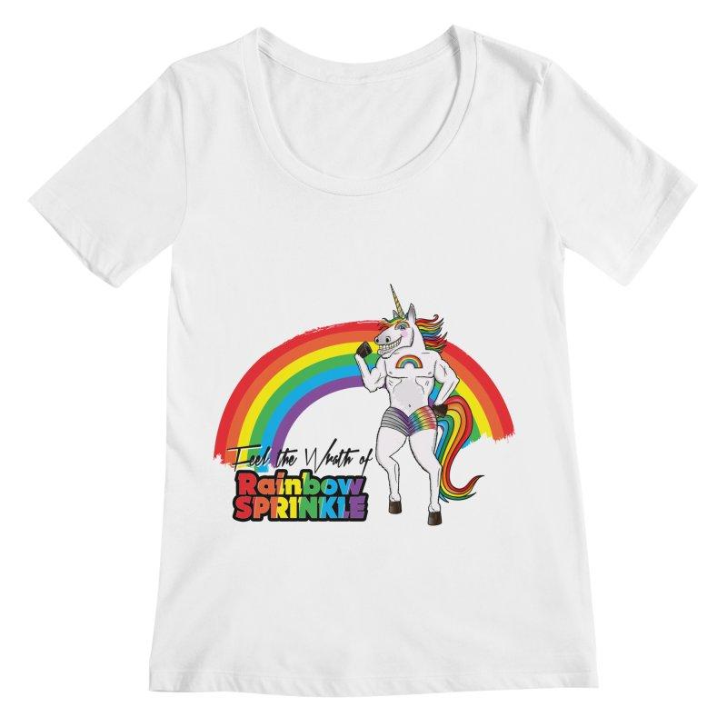Feel The Wrath Of Rainbow Sprinkle Women's Regular Scoop Neck by John D-C