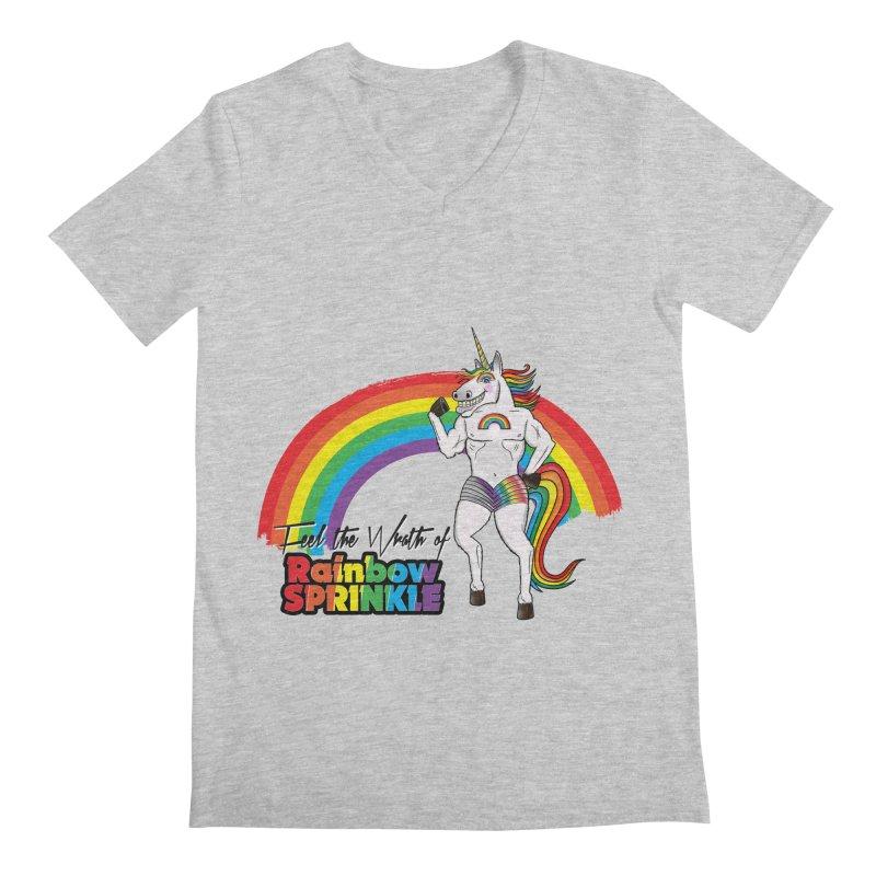 Feel The Wrath Of Rainbow Sprinkle Men's V-Neck by John D-C's Artist Shop