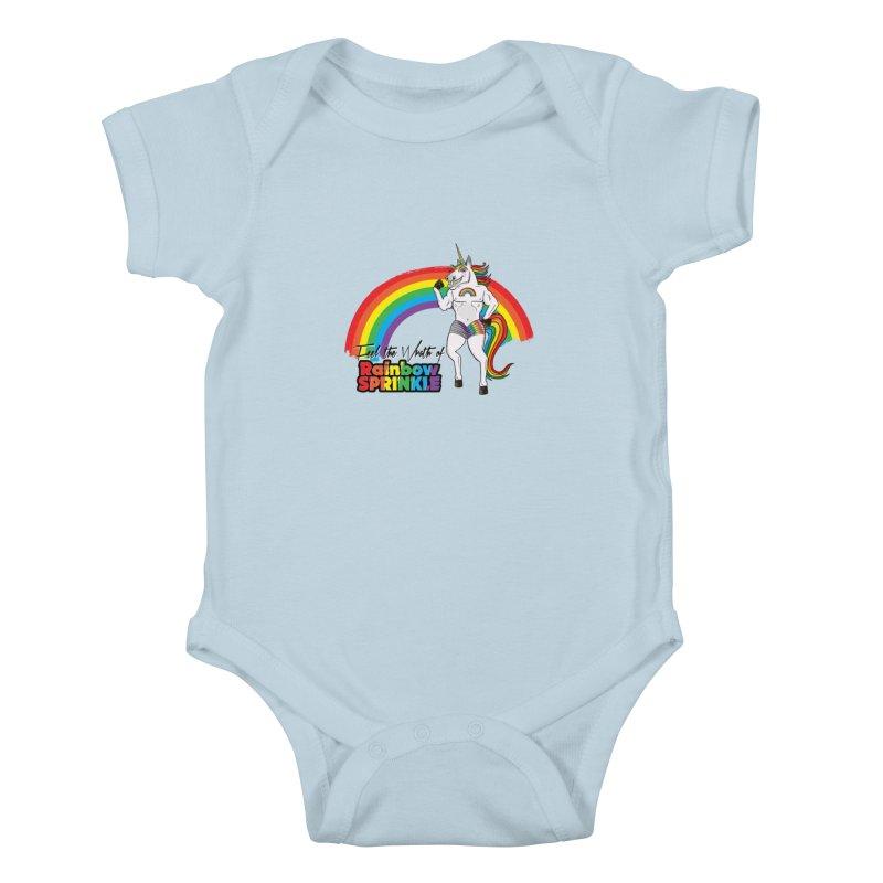 Feel The Wrath Of Rainbow Sprinkle Kids Baby Bodysuit by John D-C's Artist Shop