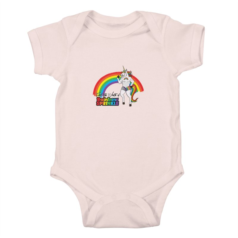Feel The Wrath Of Rainbow Sprinkle Kids Baby Bodysuit by John D-C's Artist Shop