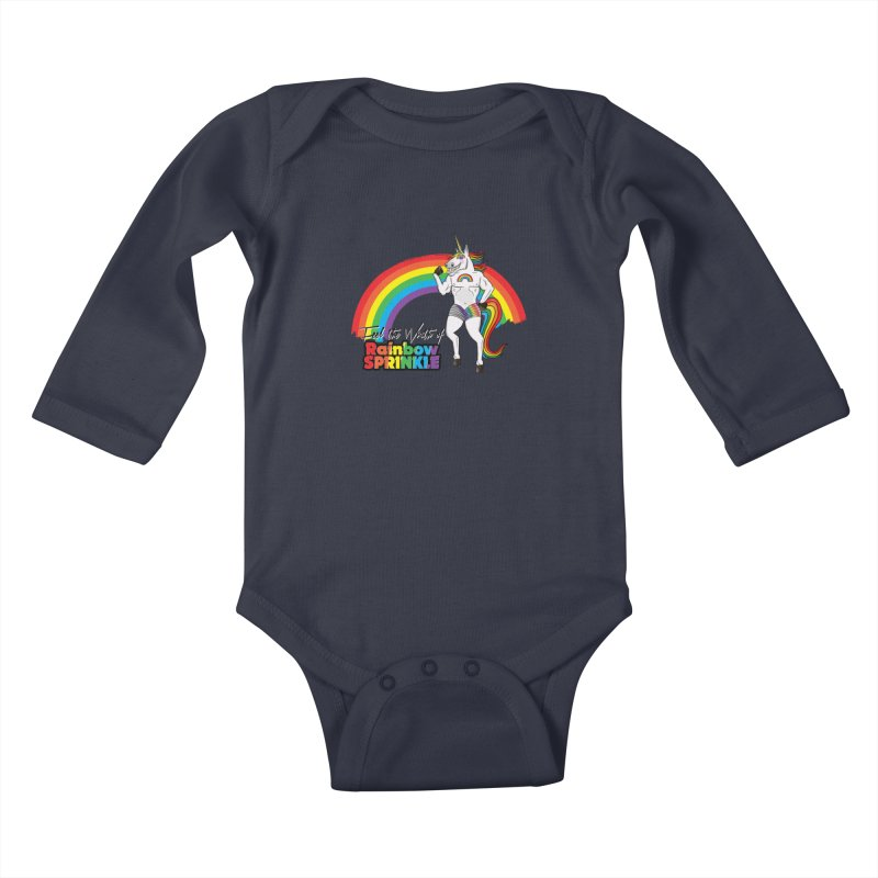 Feel The Wrath Of Rainbow Sprinkle Kids Baby Longsleeve Bodysuit by John D-C