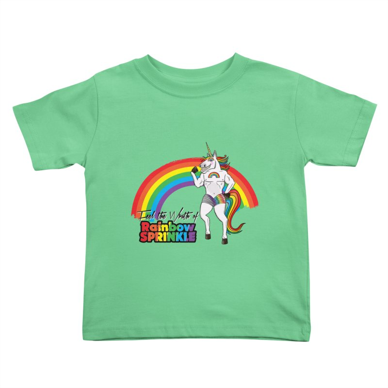 Feel The Wrath Of Rainbow Sprinkle Kids Toddler T-Shirt by John D-C's Artist Shop