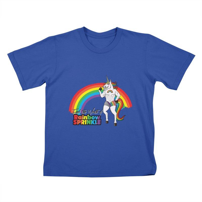 Feel The Wrath Of Rainbow Sprinkle Kids T-Shirt by John D-C