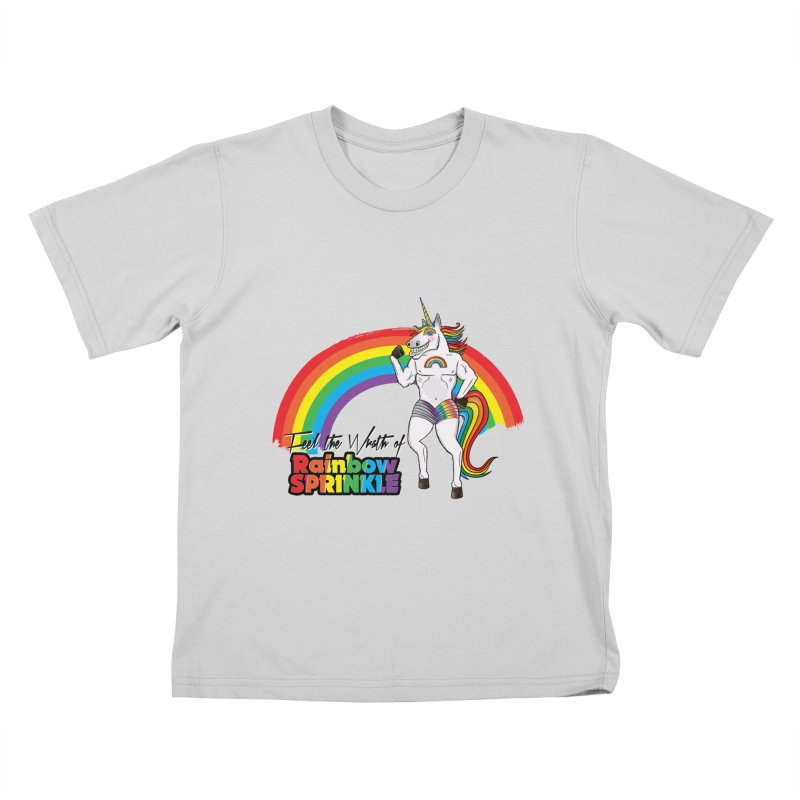 Feel The Wrath Of Rainbow Sprinkle Kids T-Shirt by John D-C