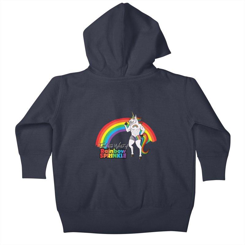 Feel The Wrath Of Rainbow Sprinkle Kids Baby Zip-Up Hoody by John D-C's Artist Shop
