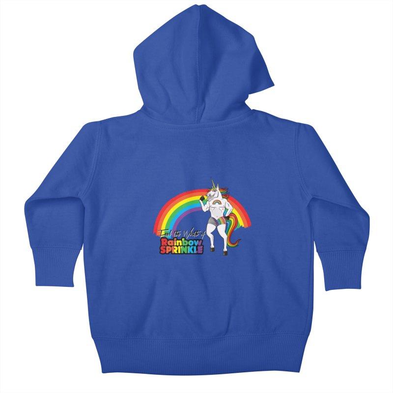 Feel The Wrath Of Rainbow Sprinkle Kids Baby Zip-Up Hoody by John D-C