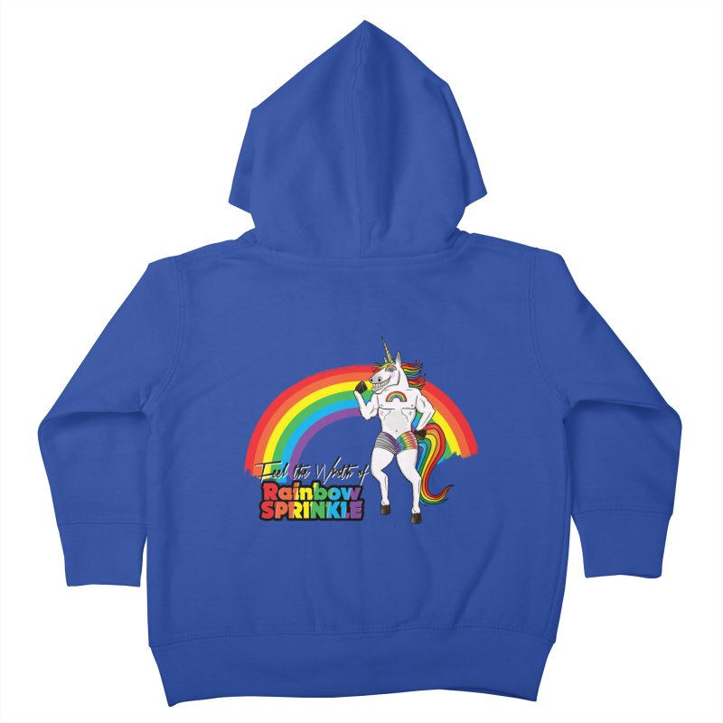 Feel The Wrath Of Rainbow Sprinkle Kids Toddler Zip-Up Hoody by John D-C