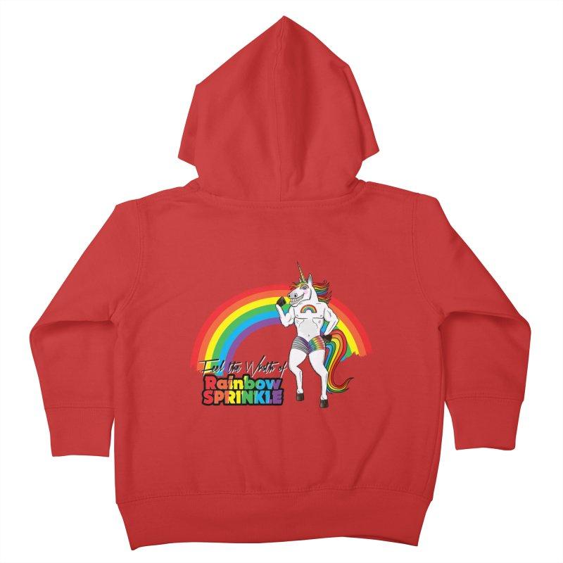 Feel The Wrath Of Rainbow Sprinkle Kids Toddler Zip-Up Hoody by John D-C
