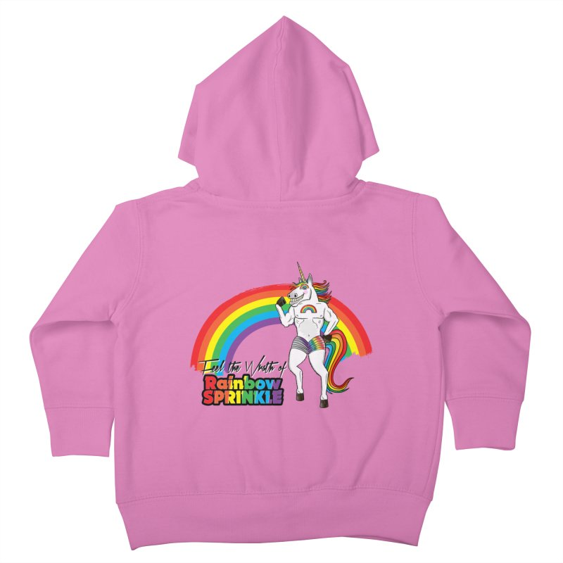 Feel The Wrath Of Rainbow Sprinkle Kids Toddler Zip-Up Hoody by John D-C's Artist Shop