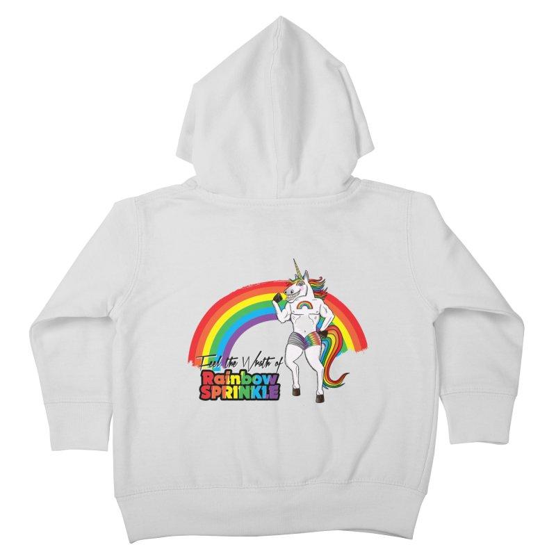 Feel The Wrath Of Rainbow Sprinkle Kids Toddler Zip-Up Hoody by John D-C's Artist Shop