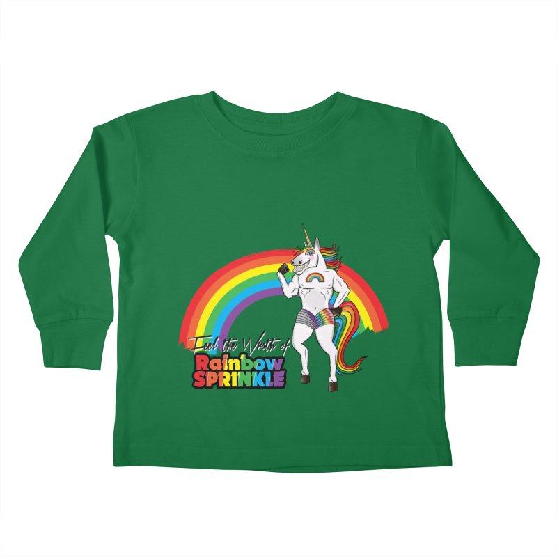 Feel The Wrath Of Rainbow Sprinkle Kids Toddler Longsleeve T-Shirt by John D-C