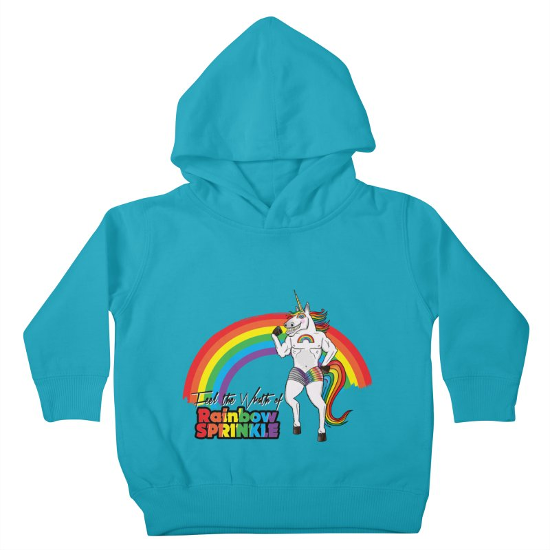 Feel The Wrath Of Rainbow Sprinkle Kids Toddler Pullover Hoody by John D-C's Artist Shop