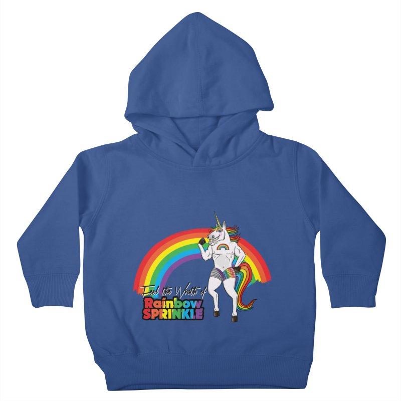 Feel The Wrath Of Rainbow Sprinkle Kids Toddler Pullover Hoody by John D-C