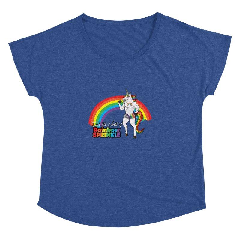 Feel The Wrath Of Rainbow Sprinkle Women's Dolman Scoop Neck by John D-C's Artist Shop