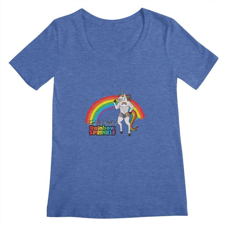Feel The Wrath Of Rainbow Sprinkle Women's Scoopneck by John D-C's Artist Shop