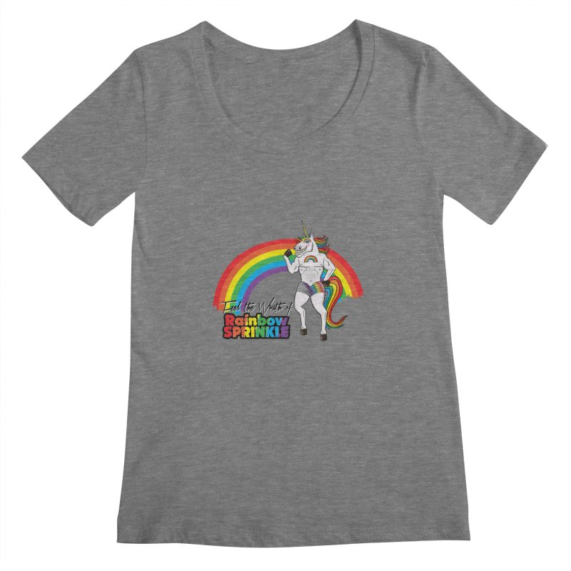 Feel The Wrath Of Rainbow Sprinkle Women's Scoopneck by John D-C's Artist Shop