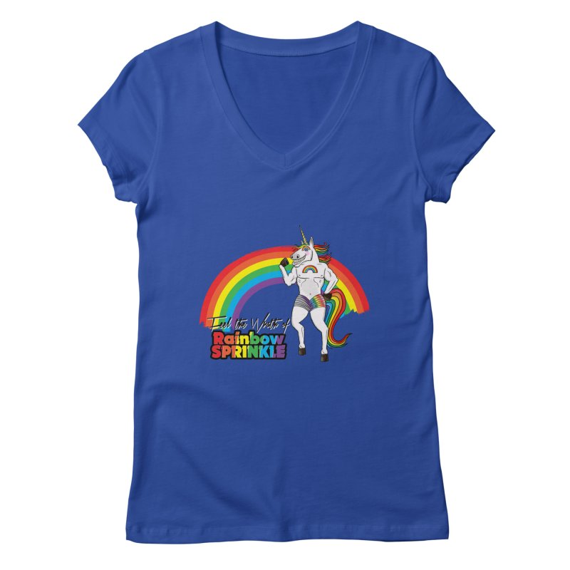 Feel The Wrath Of Rainbow Sprinkle Women's V-Neck by John D-C's Artist Shop