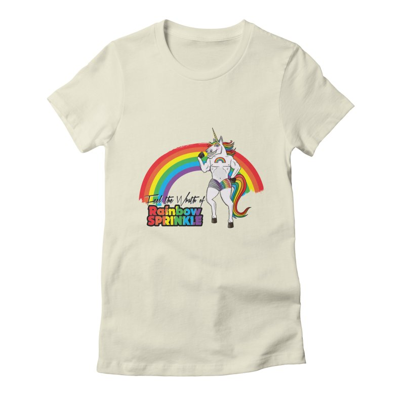 Feel The Wrath Of Rainbow Sprinkle Women's Fitted T-Shirt by John D-C's Artist Shop