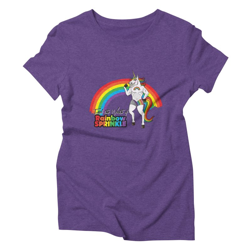 Feel The Wrath Of Rainbow Sprinkle Women's Triblend T-Shirt by John D-C's Artist Shop