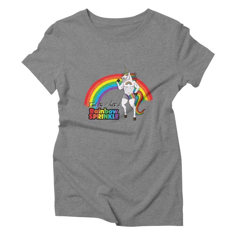 Feel The Wrath Of Rainbow Sprinkle Women's Triblend T-Shirt by John D-C's Artist Shop