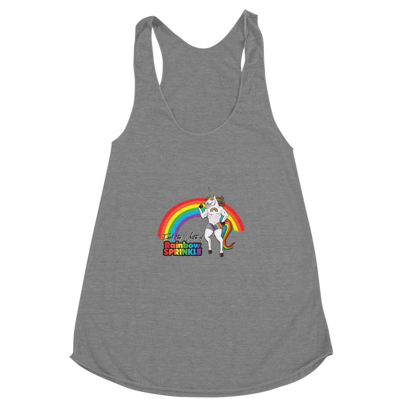 Feel The Wrath Of Rainbow Sprinkle Women's Racerback Triblend Tank by John D-C