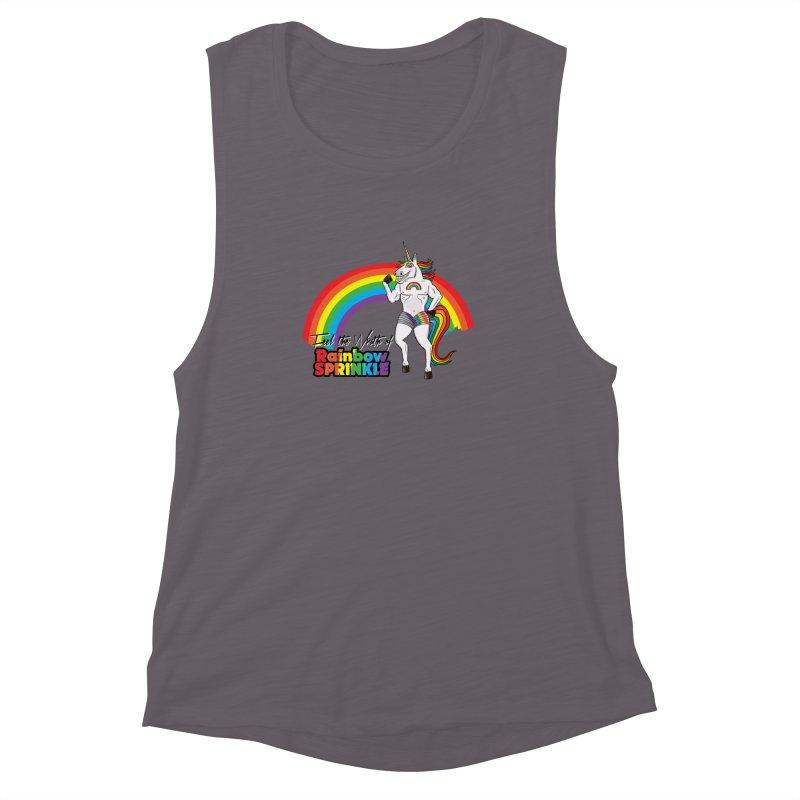 Feel The Wrath Of Rainbow Sprinkle Women's Muscle Tank by John D-C's Artist Shop