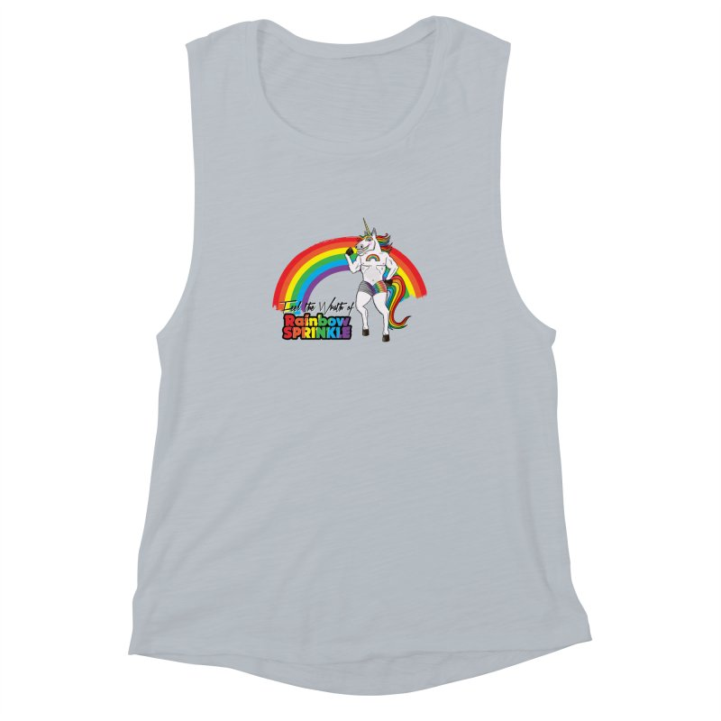 Feel The Wrath Of Rainbow Sprinkle Women's Muscle Tank by John D-C's Artist Shop