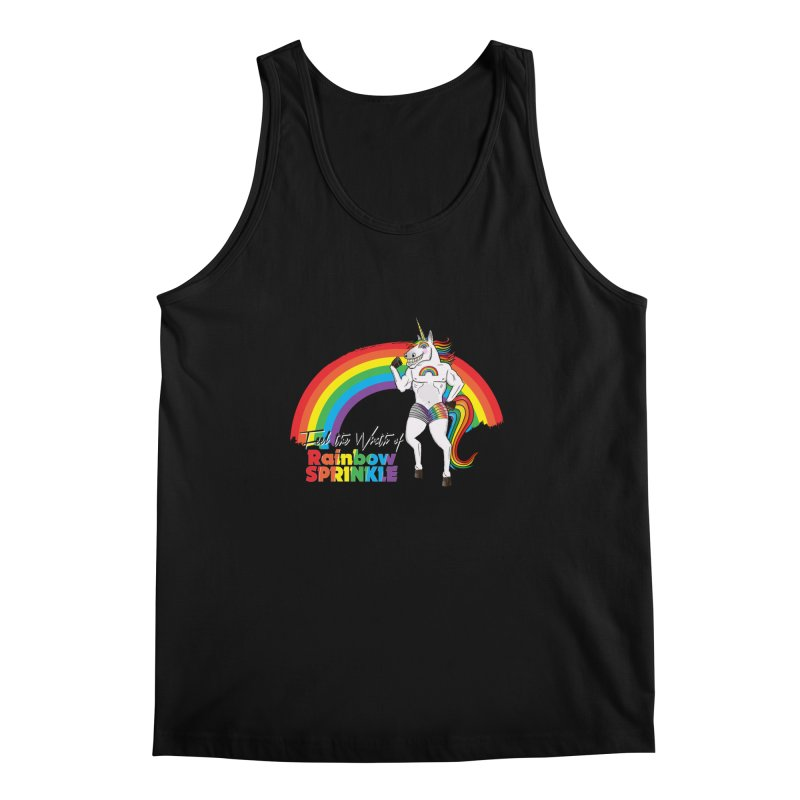 Feel The Wrath Of Rainbow Sprinkle Men's Regular Tank by John D-C's Artist Shop
