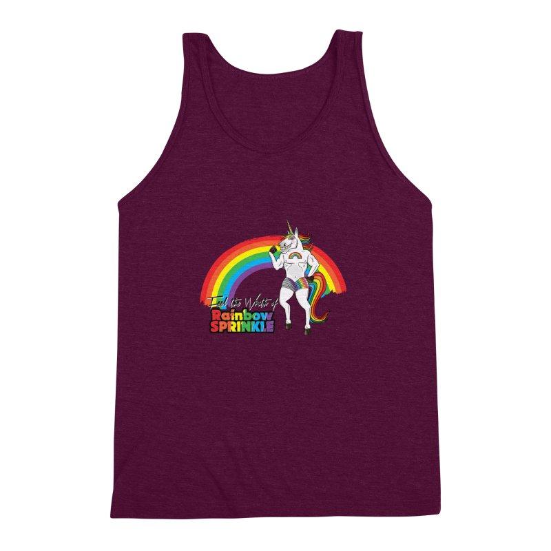 Feel The Wrath Of Rainbow Sprinkle Men's Triblend Tank by John D-C's Artist Shop