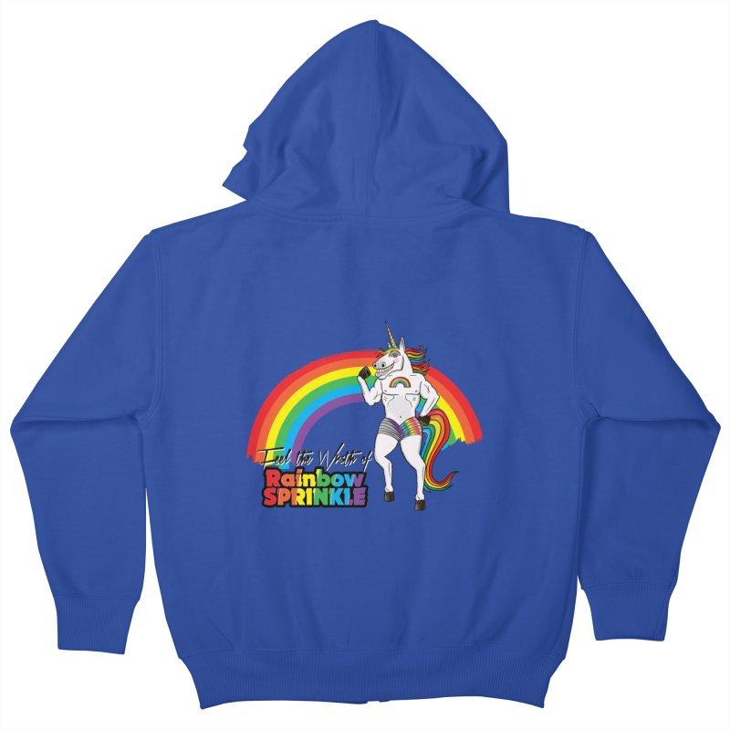Feel The Wrath Of Rainbow Sprinkle Kids Zip-Up Hoody by John D-C's Artist Shop