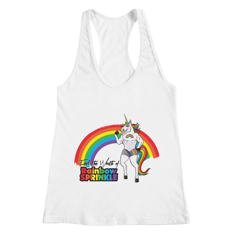 Feel The Wrath Of Rainbow Sprinkle Women's Racerback Tank by John D-C