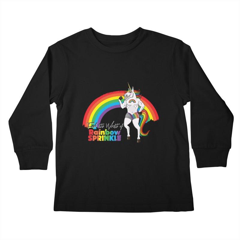 Feel The Wrath Of Rainbow Sprinkle Kids Longsleeve T-Shirt by John D-C