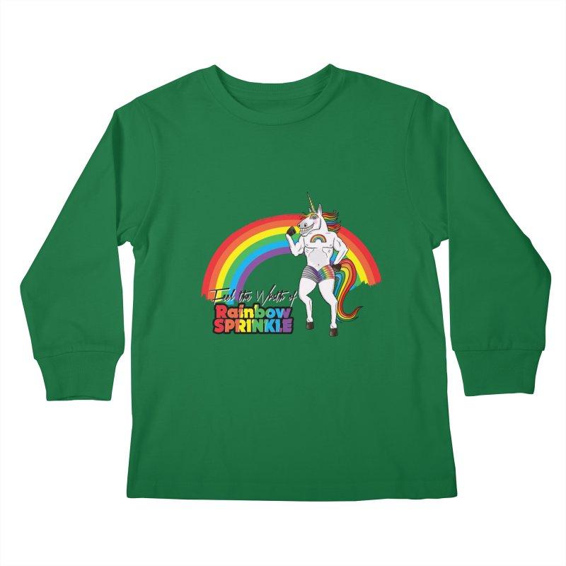 Feel The Wrath Of Rainbow Sprinkle Kids Longsleeve T-Shirt by John D-C's Artist Shop