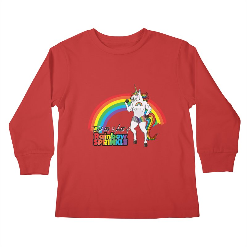 Feel The Wrath Of Rainbow Sprinkle Kids Longsleeve T-Shirt by John D-C's Artist Shop