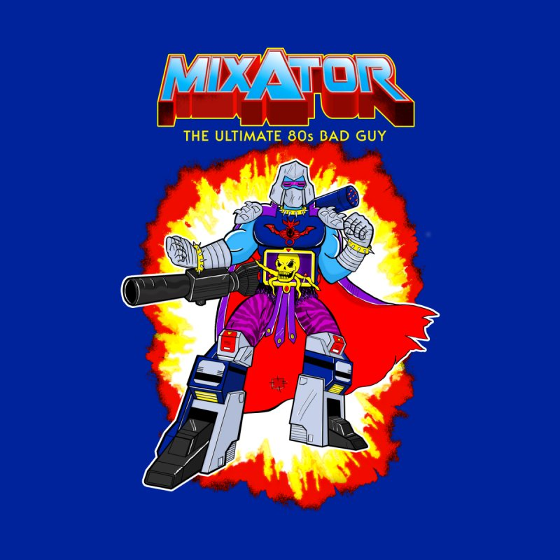 Mixator - The Ultimate 80s Bad Guy Men's Triblend T-shirt by John D-C's Artist Shop