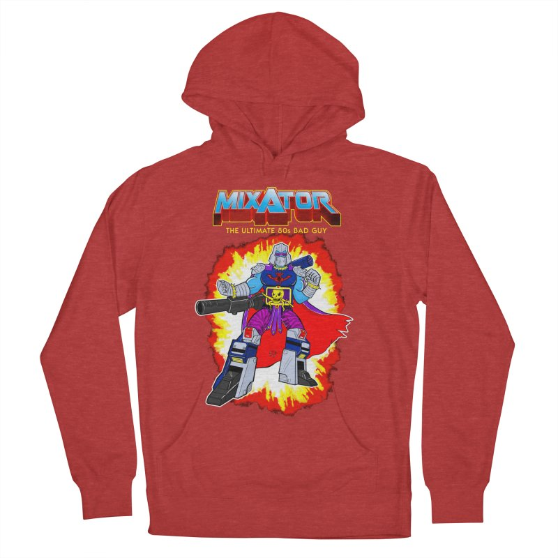 Mixator - The Ultimate 80s Bad Guy Men's French Terry Pullover Hoody by John D-C's Artist Shop