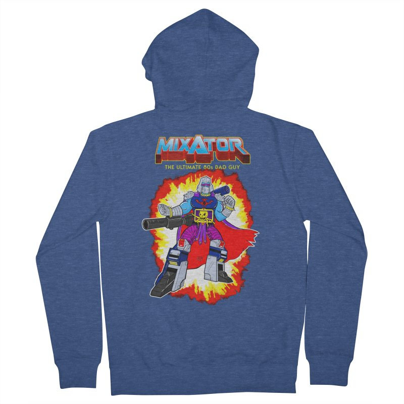 Mixator - The Ultimate 80s Bad Guy Women's Zip-Up Hoody by John D-C's Artist Shop
