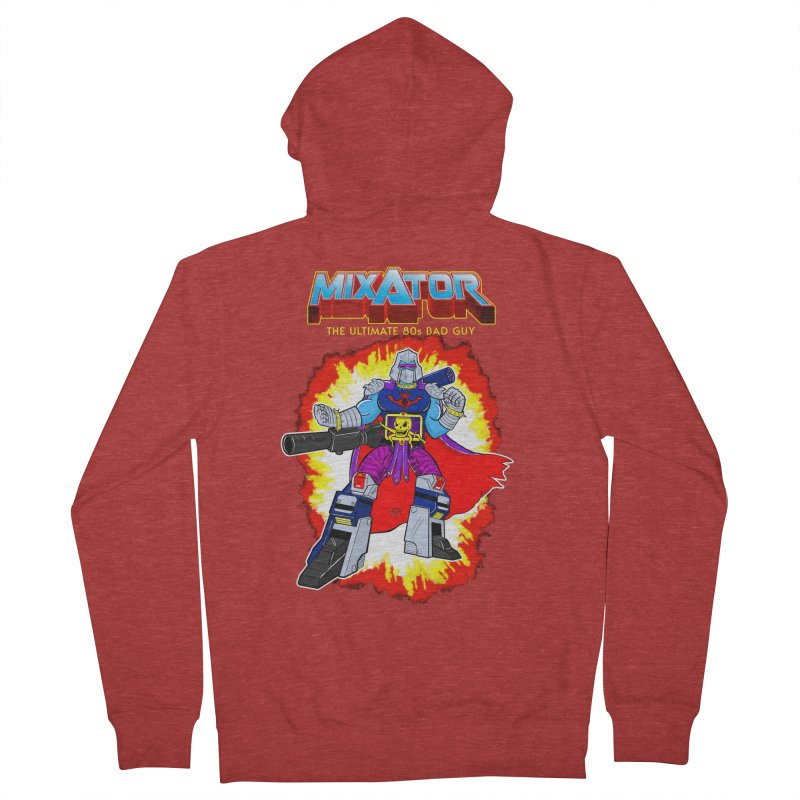 Mixator - The Ultimate 80s Bad Guy Women's French Terry Zip-Up Hoody by John D-C's Artist Shop