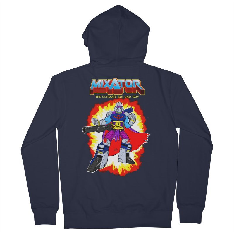 Mixator - The Ultimate 80s Bad Guy Women's French Terry Zip-Up Hoody by John D-C