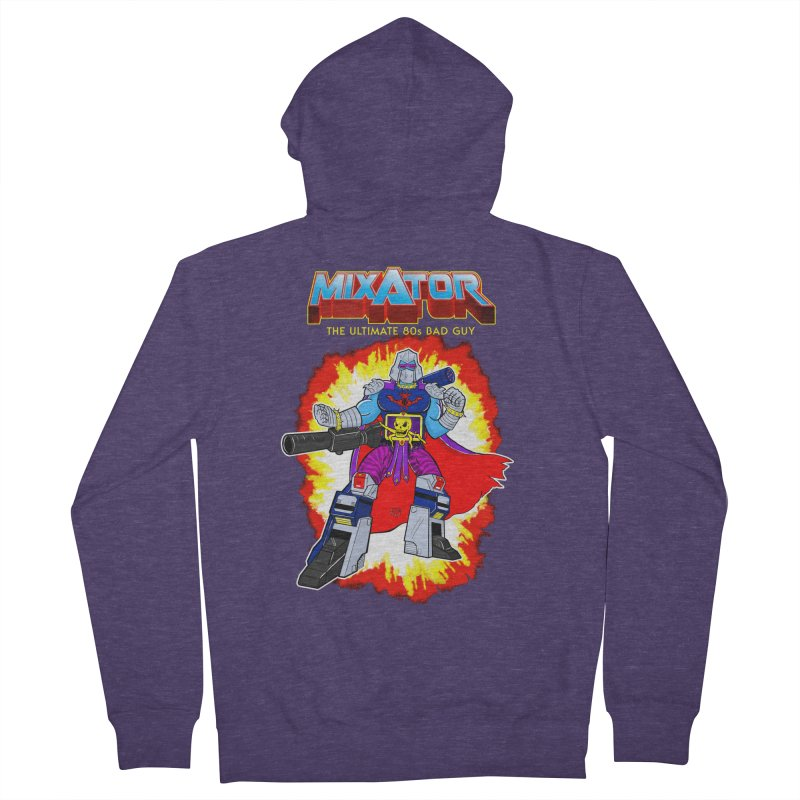 Mixator - The Ultimate 80s Bad Guy Men's Zip-Up Hoody by John D-C's Artist Shop