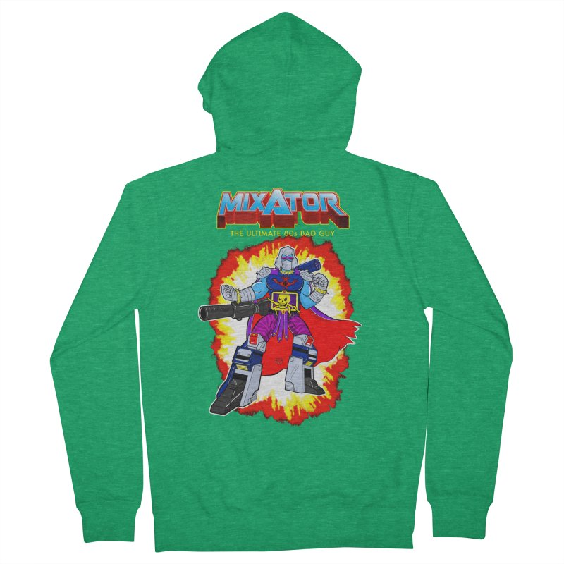 Mixator - The Ultimate 80s Bad Guy Men's French Terry Zip-Up Hoody by John D-C's Artist Shop
