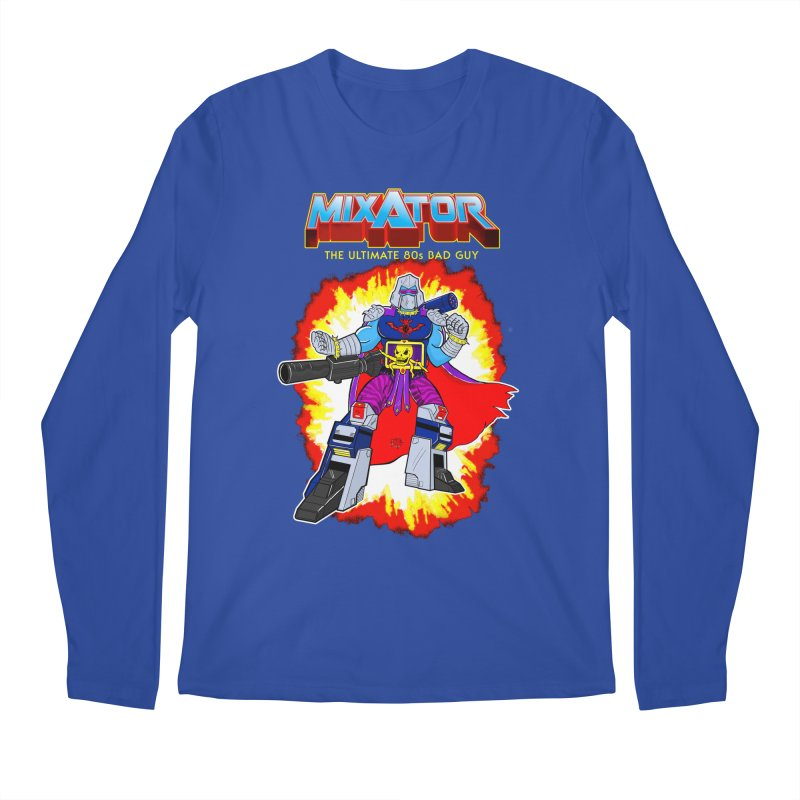 Mixator - The Ultimate 80s Bad Guy Men's Longsleeve T-Shirt by John D-C's Artist Shop