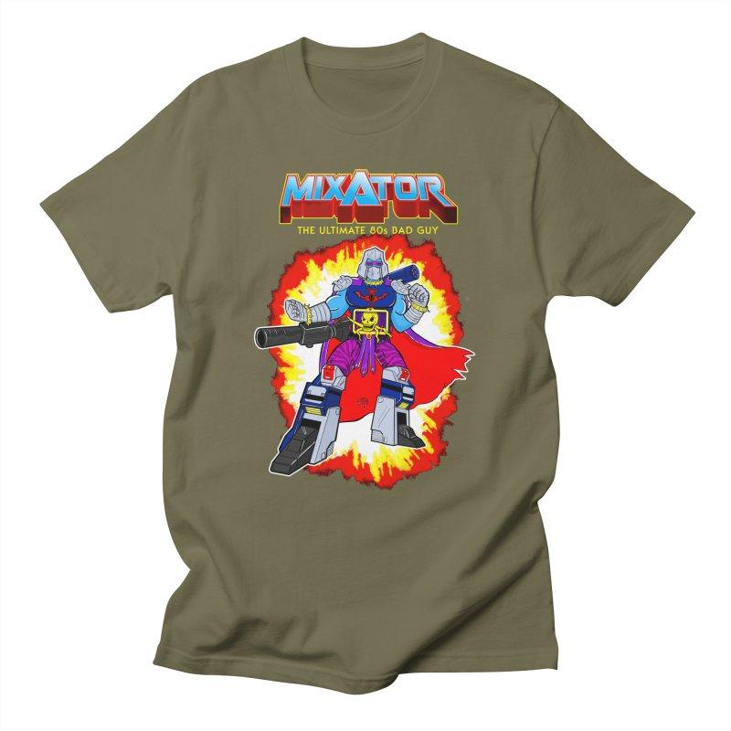 Mixator - The Ultimate 80s Bad Guy Men's T-shirt by John D-C's Artist Shop